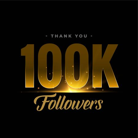 100k social media network followers and connections Ilustracja