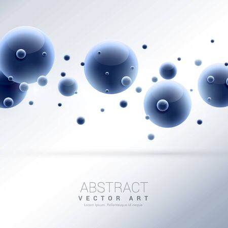 3d blue molecules abstract background