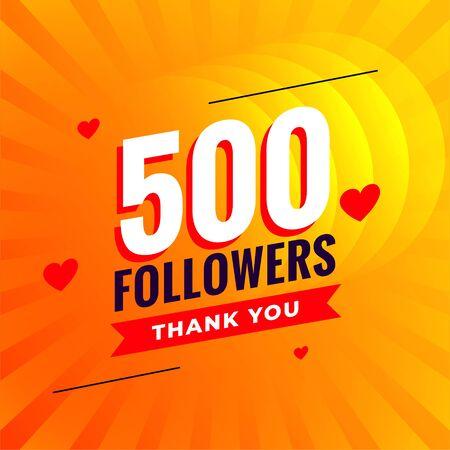 500 followers social media network background Ilustracja