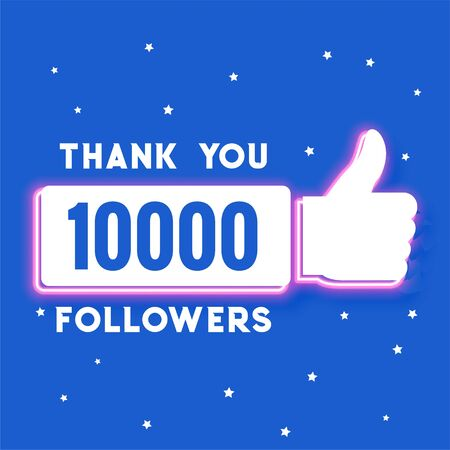 ten thousand social media followers and subscribers template