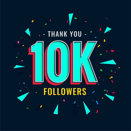 10k social followers and subscribers template