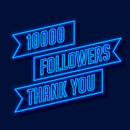 1000 followers network thank you poster Illustration