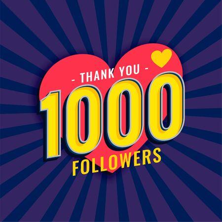 social media 1000 followers background