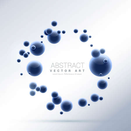 blue abstract molecules particles background