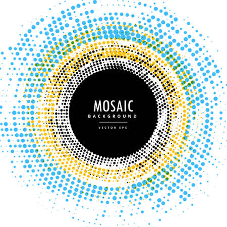 abstract circle mosaic background effect