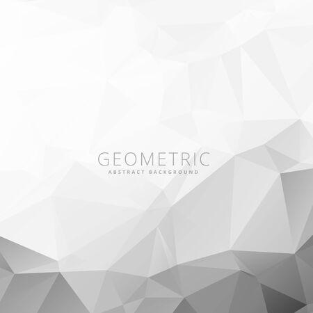 gray white geometric background Ilustração Vetorial