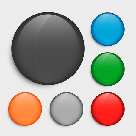 empty circle buttons set in many colors