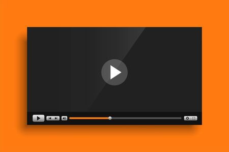 yellow theme video media player interface template design