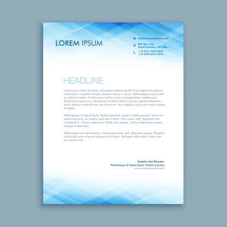 elegant business letterhead template in creative style with modern shape design Vetores