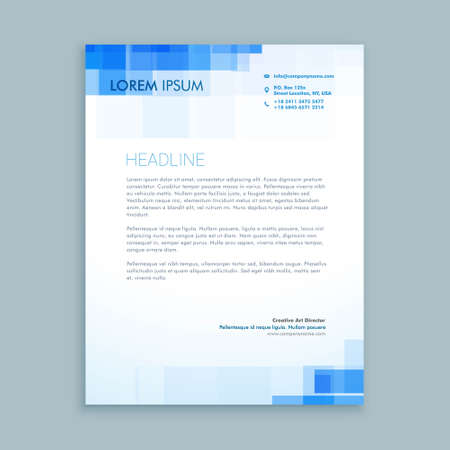 elegant business letterhead template in creative style with modern shape design