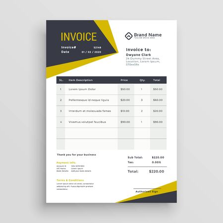 awesome business invoice template design