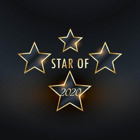 star of 2020 golden background