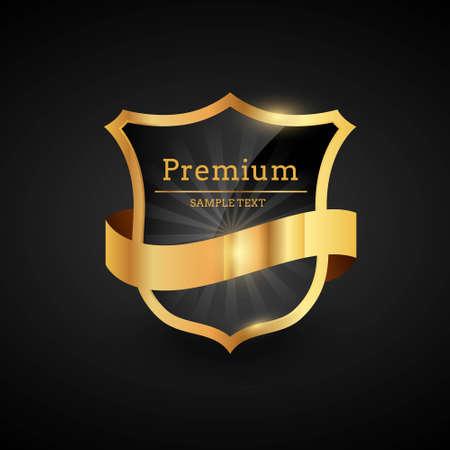 premium luxury golden label design