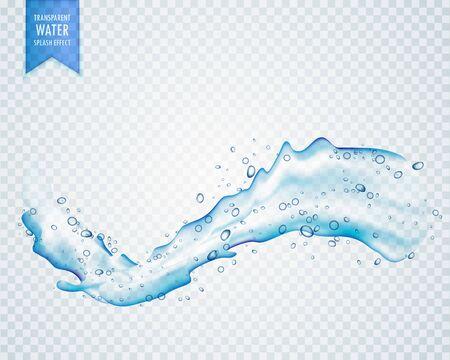 water splash flowing on transparent background Ilustração Vetorial
