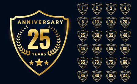 premium golden anniversary logotype big collection design