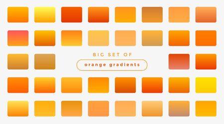 set of bright orange and yellow gradients