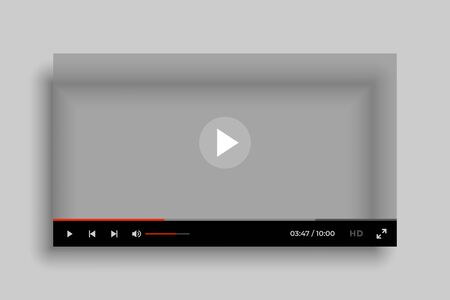 video media player interface mockup template design