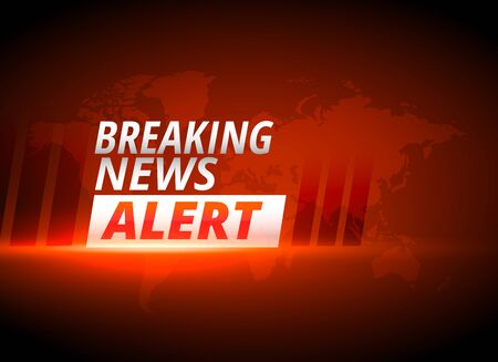 breaking news alert background in red theme