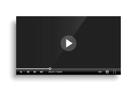shiny black video player bar template design
