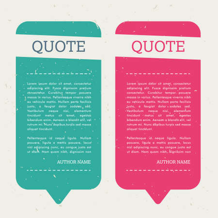 creative quote bubble set with note message