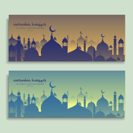 eid and ramadan festival banners Ilustrace