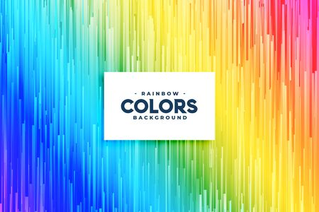 abstract rainbow colors vertical lines background design Vetores