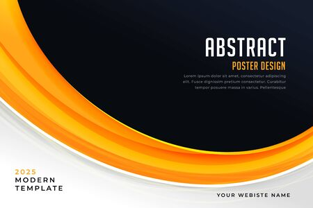abstract yellow and black presentation poster