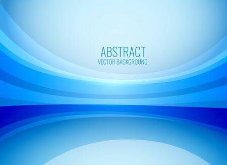 stylish blue wavy business background Vektorové ilustrace