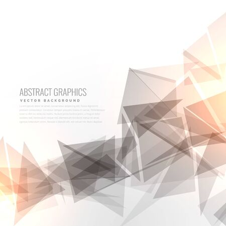 abstract gray grometric triangles shape with light effect