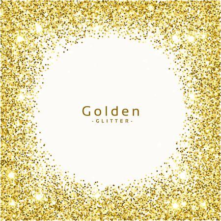 golden glitter frame background vector Vektoros illusztráció