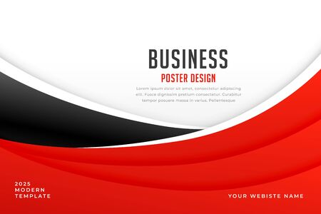 abstract red and wave background for business presentation 일러스트