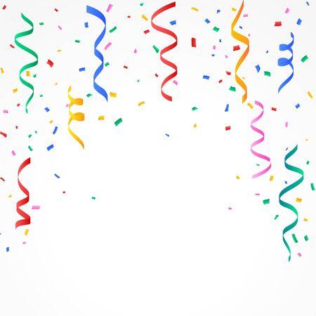 confetti and serpentine falling background