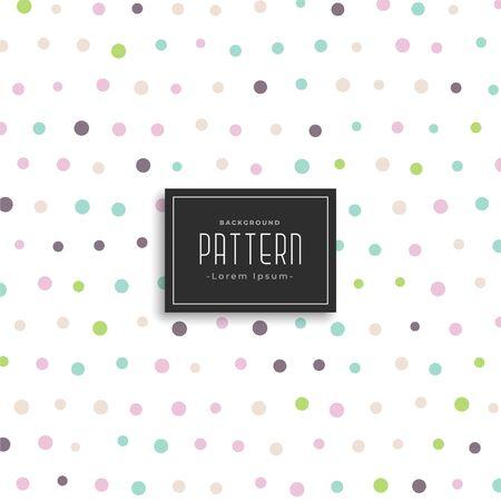 soft color polka dots pattern background Illustration