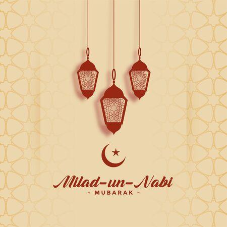 happy milad un nabi barawafat festival card design