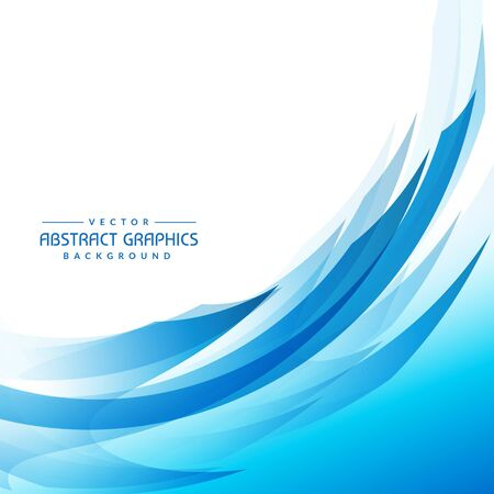 blue abstract wave background