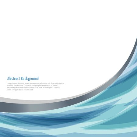 business background with abstract wave Vektorové ilustrace