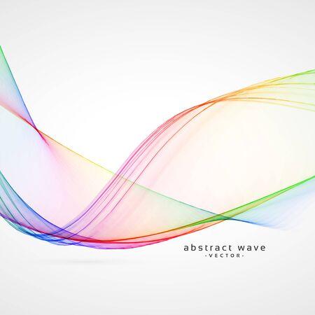 fond de vecteur de vague abstraite élégante couleur arc-en-ciel