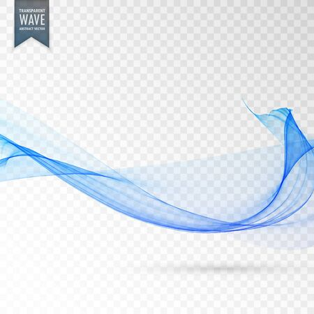 abstract blue transparent wave vector background Vetores