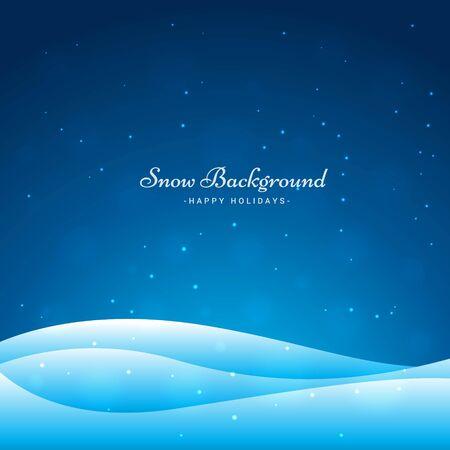 snow wave background vector illustration