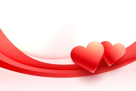 lovely 3d hearts background for valentines day