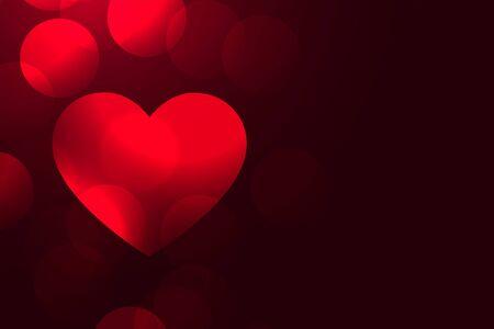 romantic red love heart beautiful background design