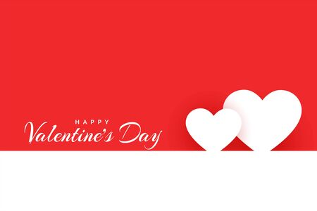 minimal happy valentines day love background design