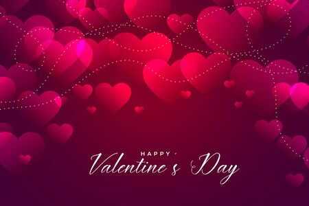 shiny pink valentines day hearts background design
