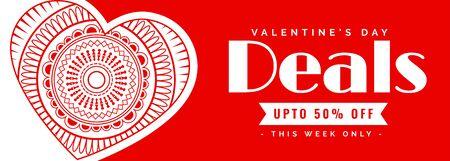 valentines day deals and offer decorative banner design