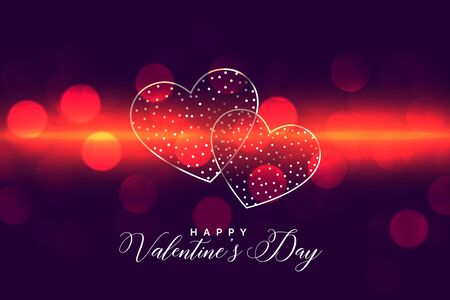 abstract happy valentines day glowing background design