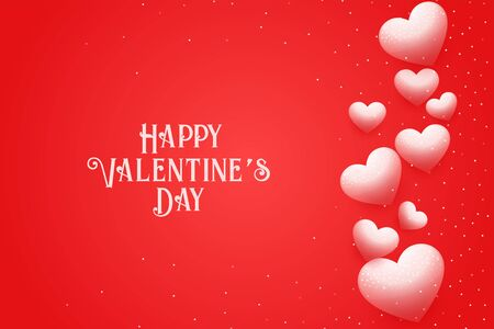 happy valentines day greeting design with floating hearts