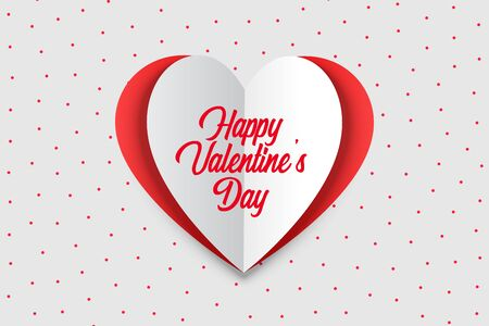happy valentines day greeting card in origami style