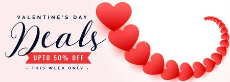 happy valentines day sale and deal banner design