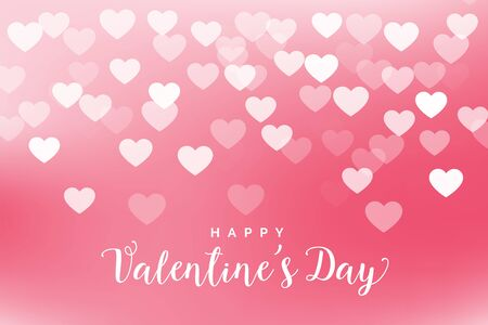 lovely pink hearts valentines day background design