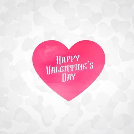 beautiful hearts background for valentines day design illustration Ilustração Vetorial